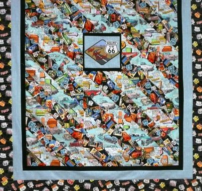 Custom Made Route 66 Throw Quilt