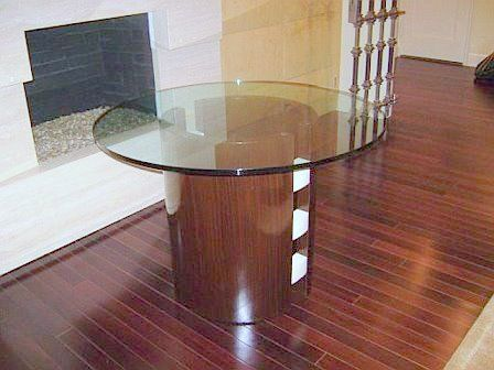 Custom Made Dining Table In Ebony And Parchment