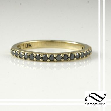 Custom Made Tire Tread Set In Gold With Black Diamonds - Tire Rings