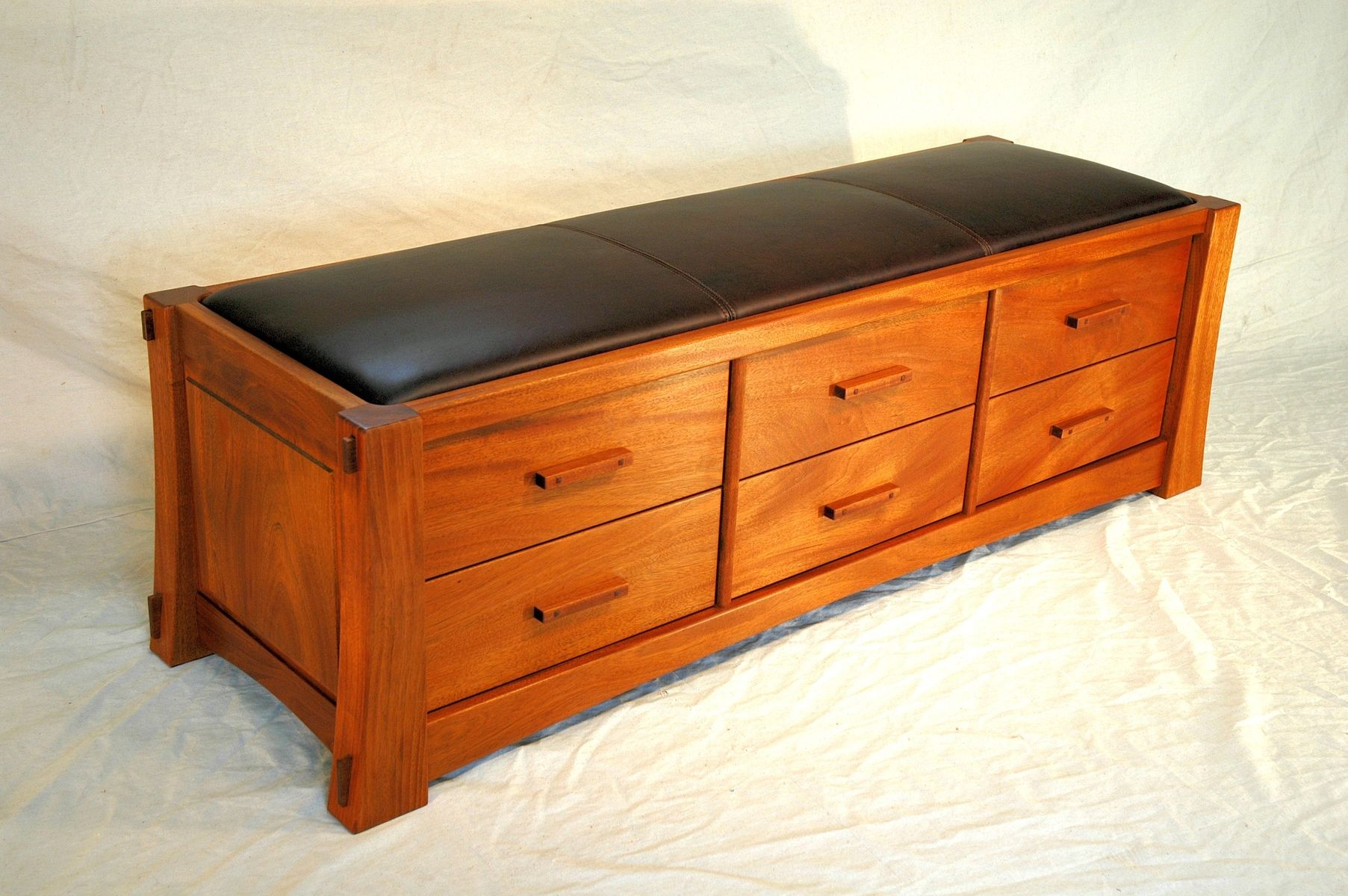 buy a custom made combination cd storage chest and bench