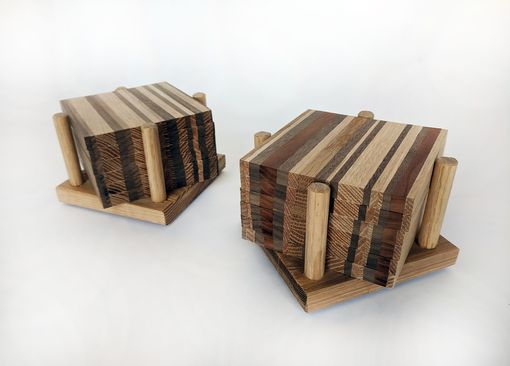 Custom Made Reclaimed Wood Strip Coasters