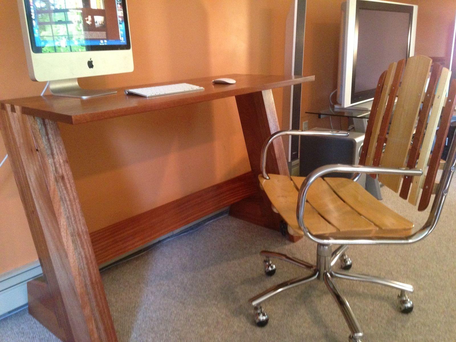Custom Made Floating Dovetail Desk