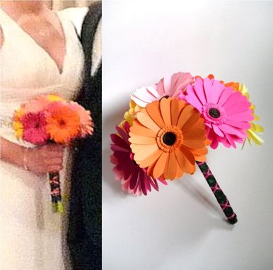 Custom Made Wedding Bouquet Paper Flower Replica