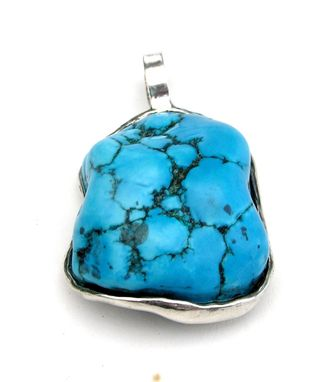 Custom Made Turquoise Pendant Custom Made In Sterling Silver