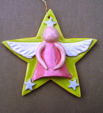Custom Made Ceramic Star Angel 3 Sale, 25 Percent Off, Ready To Ship.