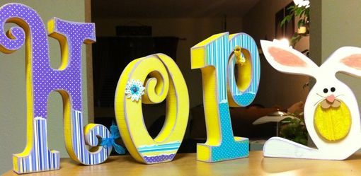 Custom Made Easter Letter Set--Hop