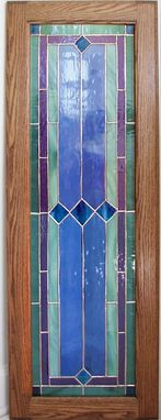 Custom Made Hartford - Stained Glass Cabinet Insert