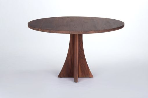 Custom Made Solid Walnut Round Dining Table