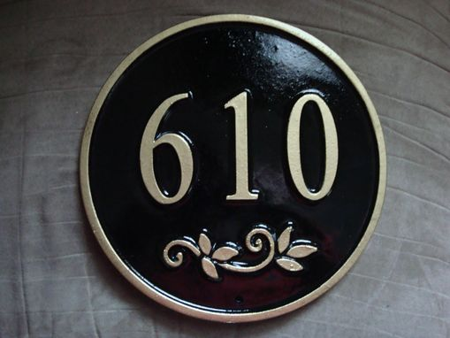 Custom Made House Number Signs