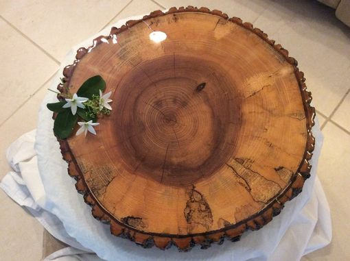 Custom Made Cake Stand, Stand, Display Stand, Live Edge Stand.