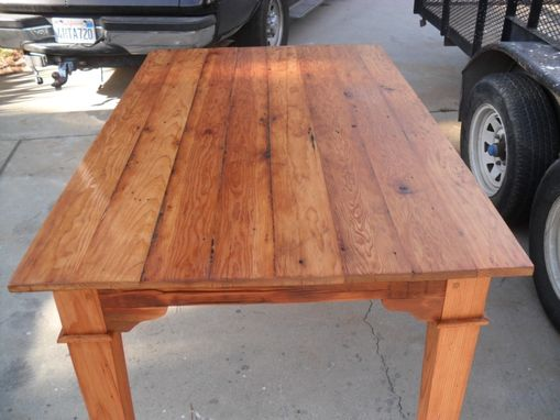 Custom Made Custom Dining Table Made From Reclaimed Wood Custom Made In The Usa