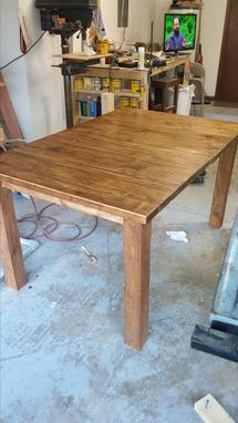 Custom Made Farmhouse Dining Table Rustic Style Table