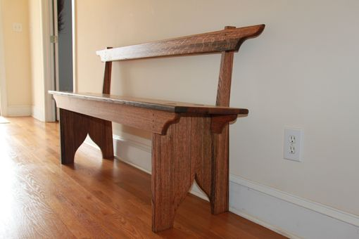 Custom Made Shaker Inspired Bench With Backrest