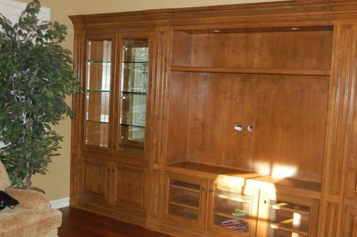 Custom Made Custom Alder Entertainment Center