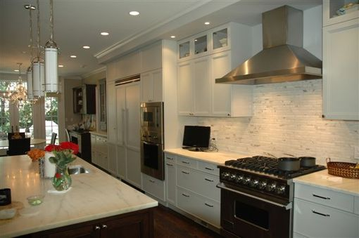 Custom Made Kitchen - White & Stainless Steel