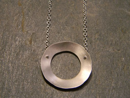 Custom Made Sterling Silver Organic Circle Necklace