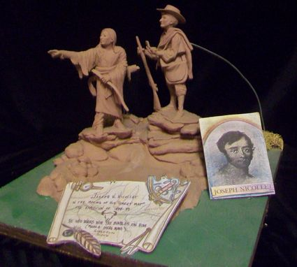 "Custom Made Sculpture: ""Joseph Nicollet In The Making Of His Great Map. The Expedition Of 1838-39"""
