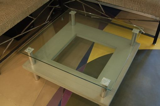 Custom Made Custom Cast Concrete Coffee Table