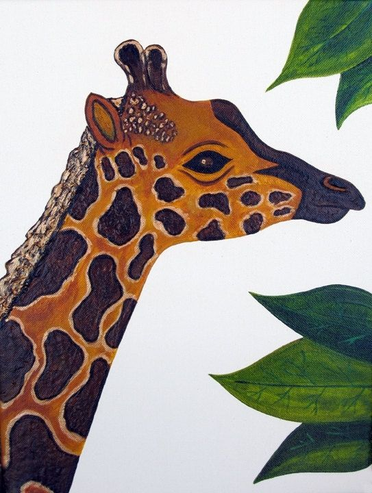 Custom Made Giraffe Nursery Art Safari Zoo Animal Jungle Theme Kids Baby Room Decor