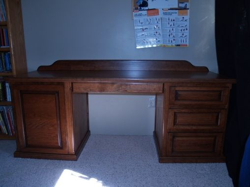Custom Made Small Desk, Cherry Wood,