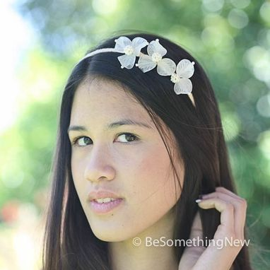 Custom Made Wedding Hair Accessories, Vintage Flower Headband, Wedding Headpiece
