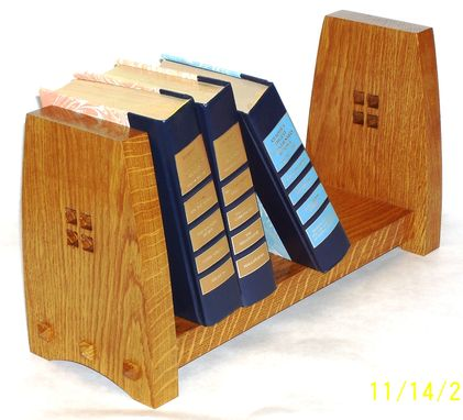 Custom Made Craftsman-Style Book Rack