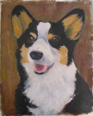 Custom Made Custom Dog Pet Portrait Of Gillie, A Pembroke Welsh Corgi