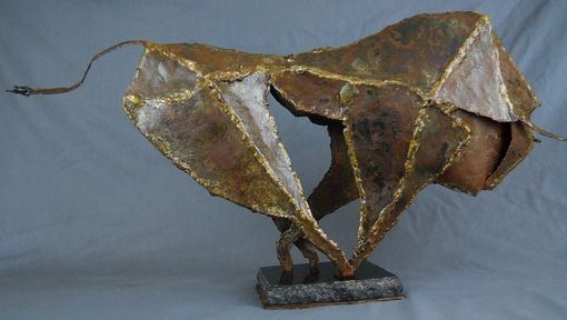 Custom Made Running Bull Sculpture