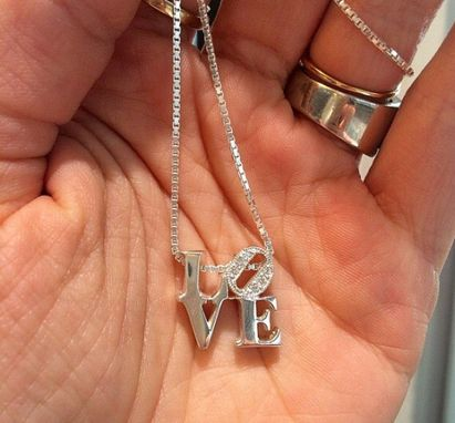 Custom Made Diamond Love Pendant