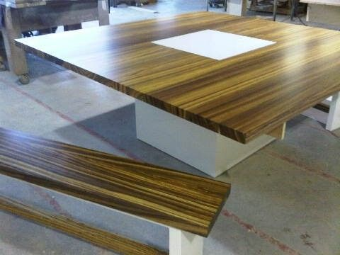 Custom Made Zebrawood Dining Table