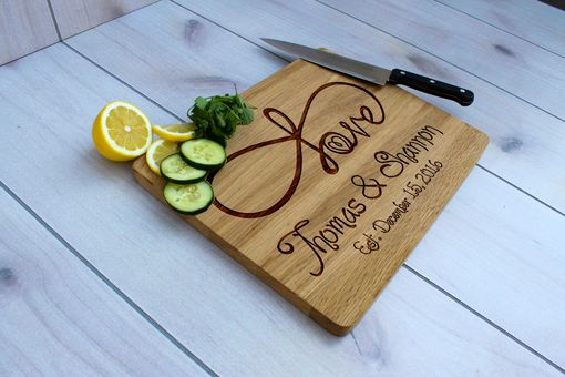 Custom Made Cb-Wo- Infinitypersonalized Cutting Board, Engraved Cutting Board, Custom Wedding Gift –