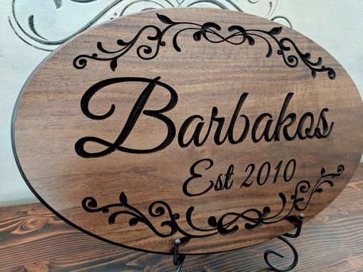 Custom Made Custom Wood Sign | Wood Sign | Wedding Gift | Carved Wood Sign | Family Name Sign