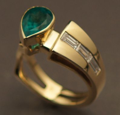 Custom Made 2.05 Ct Emerald And Diamond Ring