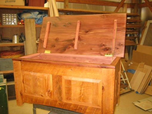 Custom Made Rustic Cypress Cedar Chest