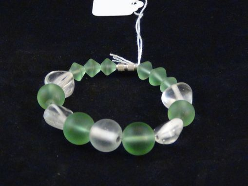 Custom Made Clear And Green Bracelet