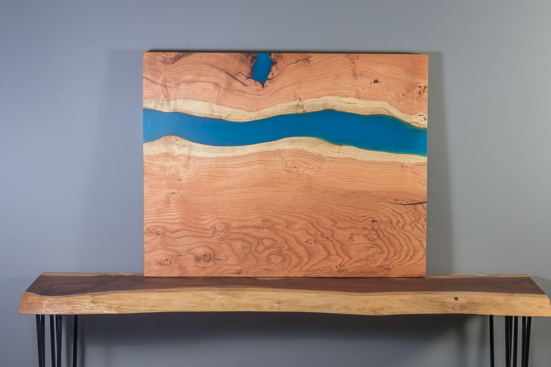 Buy A Handmade Live Edge Epoxy River Wall Art Or Coffee Table