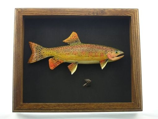Custom Made Wood Carved Fish -Fish By Tc