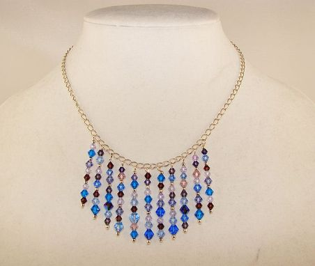 Custom Made Glittering Cascade Necklace