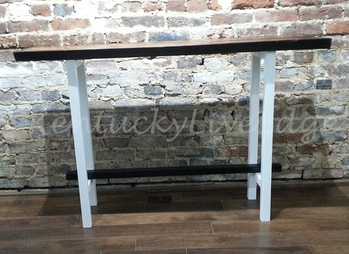 Custom Made Cauterized Kentucky Coffee Tree Console Table