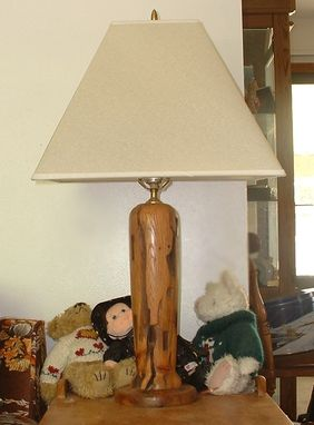 Custom Made Turned Lamp