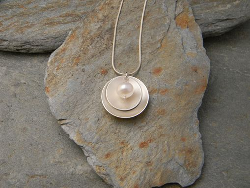 Custom Made Silver And Pearl Necklace