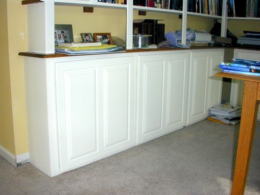 Custom Made Built-In Corner Cabinets With Shelving