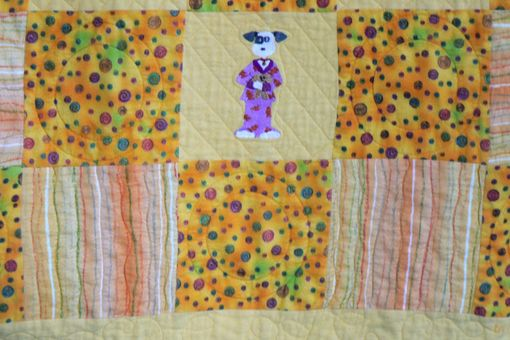 Custom Made Custom Animals In Pajamas Children's Flannel Quilt
