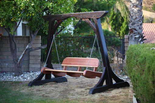 Custom Made Swinging Bench And Frame