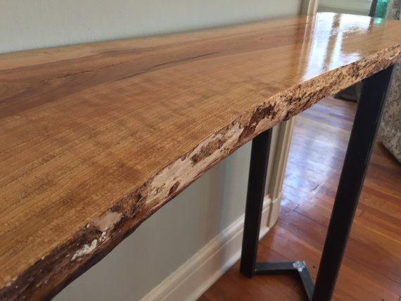 Buy A Custom Live Edge Slab Console Table Made To Order