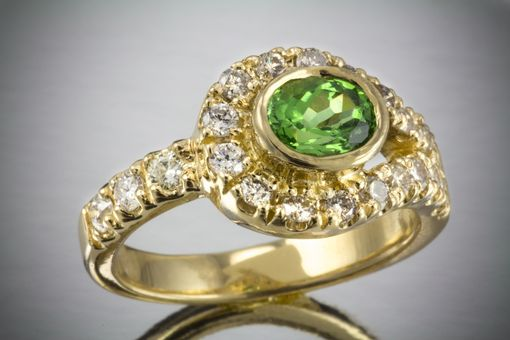Custom Made Tsavorite And Diamond Ring
