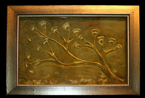 "Custom Made ""Crinoid Tree"" Cast Crystal Wall Piece"