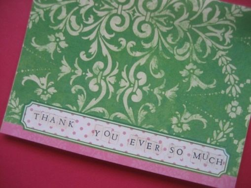 Custom Made Thank You Notecard Set