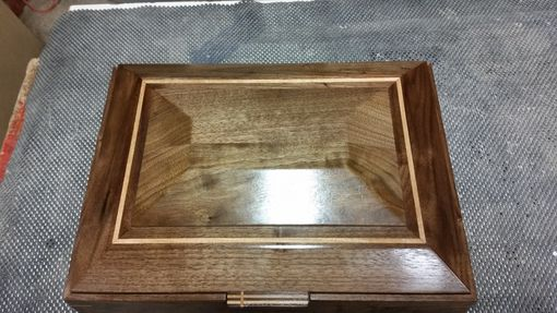Custom Made Walnut And Cherry Keepsake Box