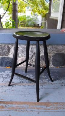 Custom Made Bar Stool Flared Leg Windsor